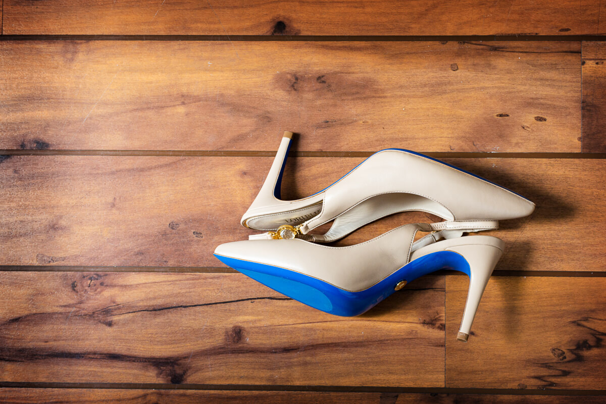 Blue soles for wedding shoes