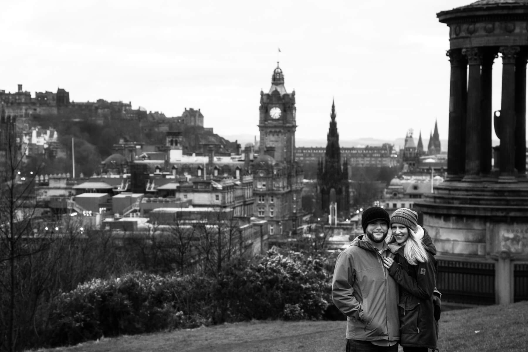 Calton Hill Proposal Photoshoot