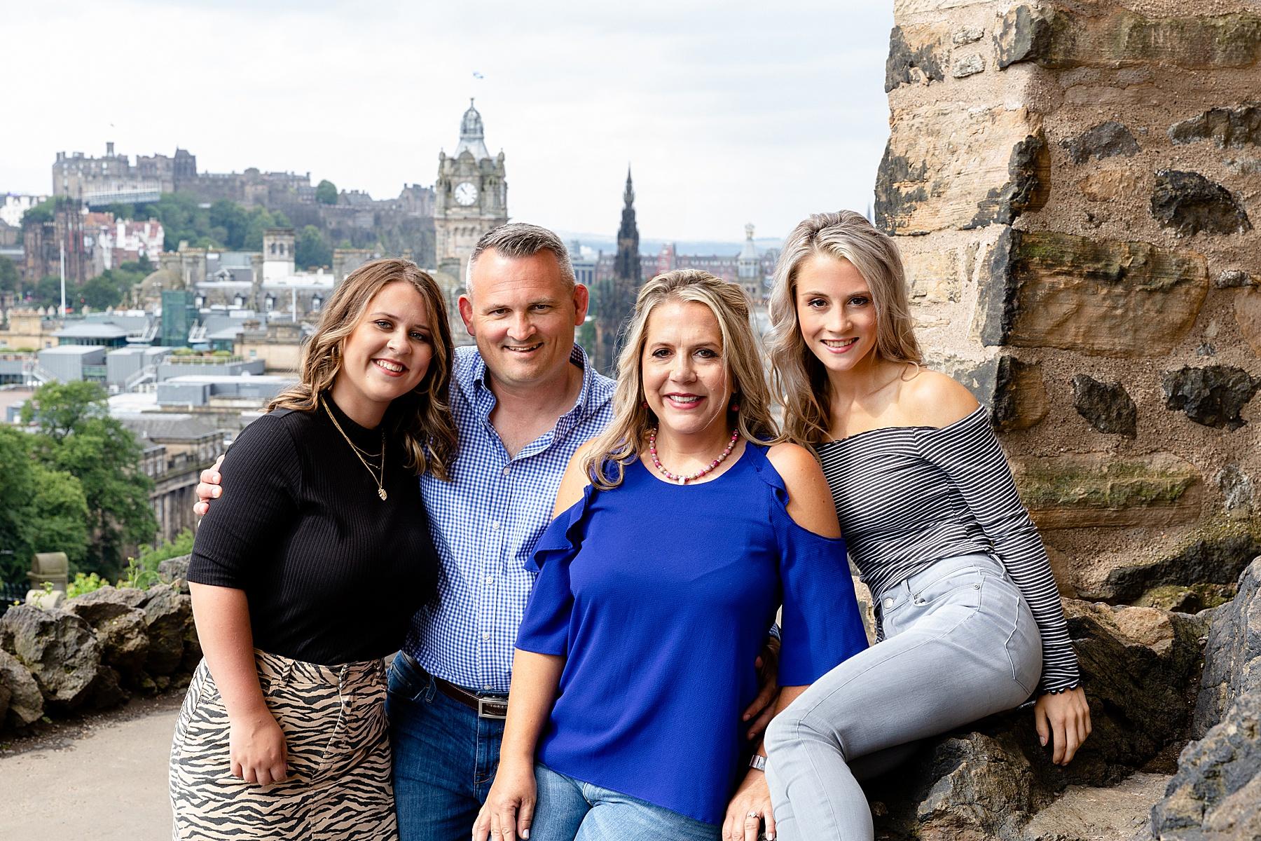 Family Photoshoot Calton Hill Edinburgh