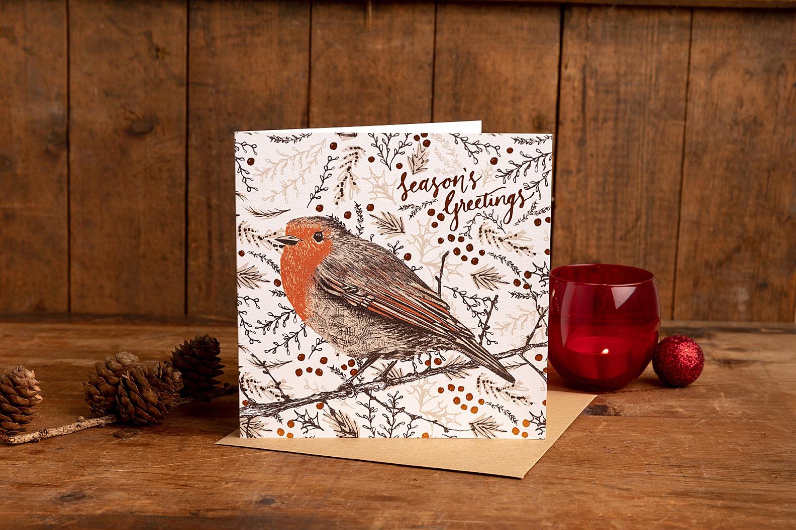 Christmas card product photography Edinburgh