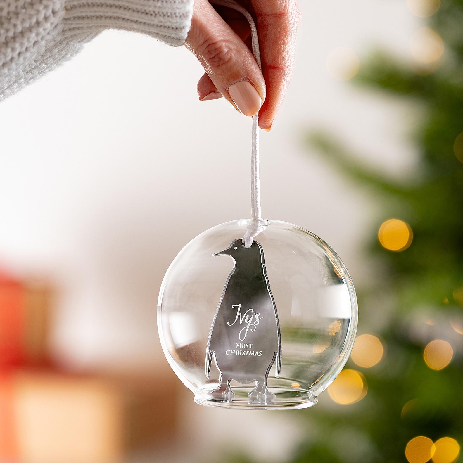 Christmas glass bauble product photography Edinburgh